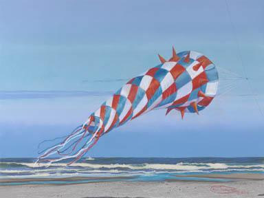 """""""Making A Patriotic Point"""" Giclee Paper Print by Carol Thompson"""