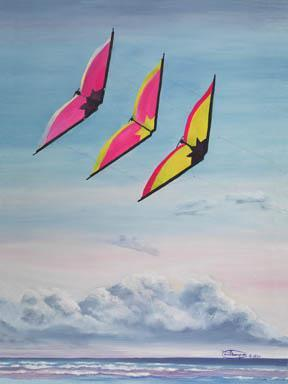 """""""Ramjets"""" Giclee Paper Print by Carol Thompson"""