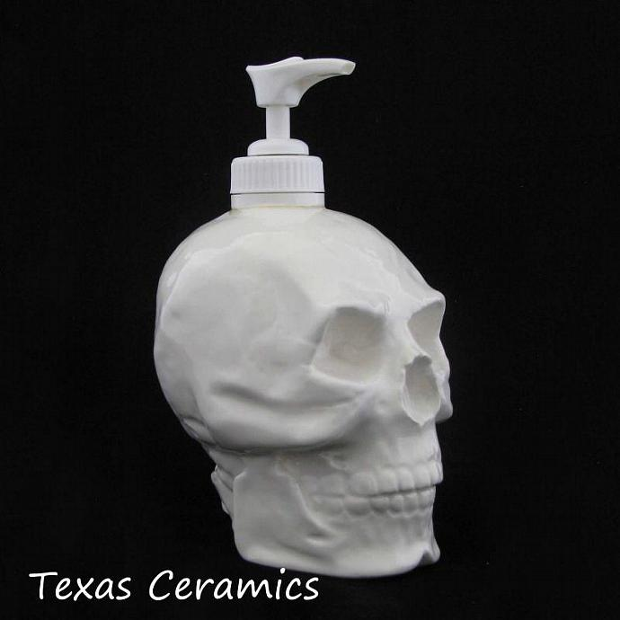 White Skull Pump Dispenser Horror Halloween Decoration