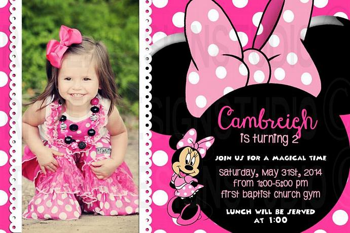 Minnie mouse birthday invitation by ritterdesignstudio on zibbet minnie mouse birthday invitation printable digital file filmwisefo