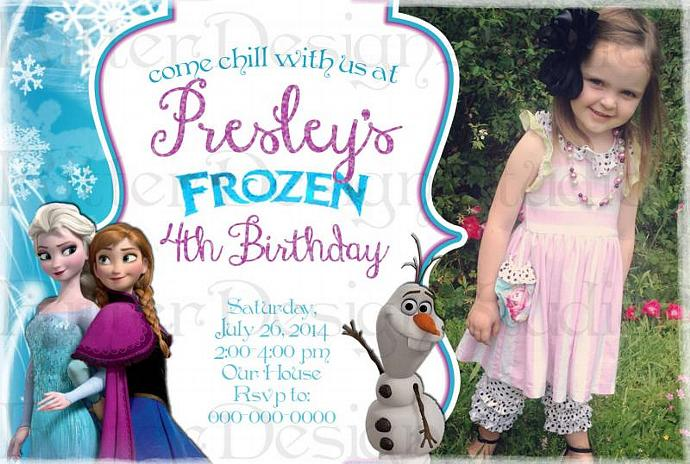 photograph regarding Printable Frozen Birthday Card referred to as Frozen Birthday Invitation with consider - Printable Electronic record
