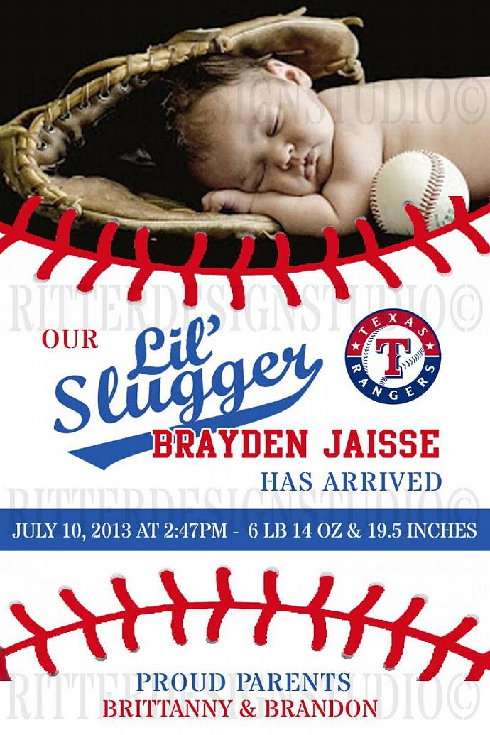 photo about Texas Rangers Schedule Printable named Baseball Texas Rangers Kid Beginning Announcement - Printable