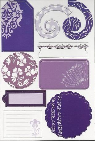 Die-Cut Adhesive Chipboard Pieces - GCD Studios Majestic Purple Color Pack