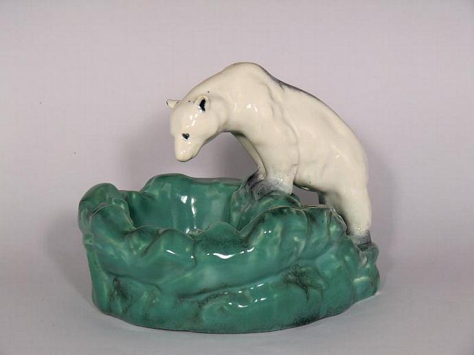 Ditmar Urbach Pottery Polar Bear Ashtray By Vintageretro