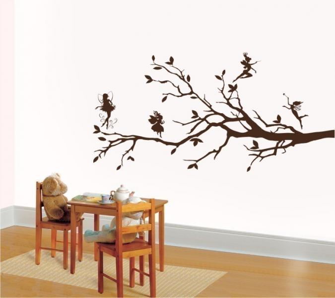 sc 1 st  EllyStudio & Wall Art Vinyl Decal Sticker Tree Fairies And | EllyStudio