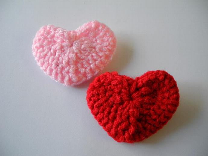 Large Crochet Heart Barrette
