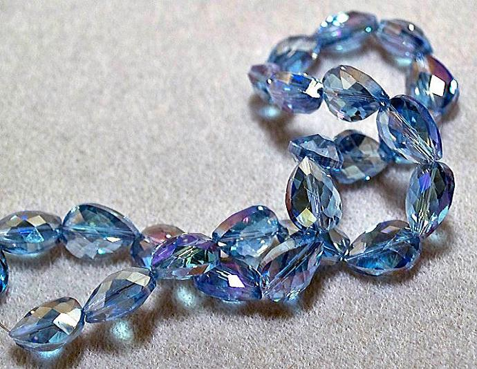 Blue Tears- faceted crystal beads