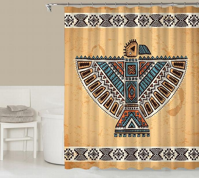 Tribal Shower Curtain Contemporary Bathroom Decor Southwestern