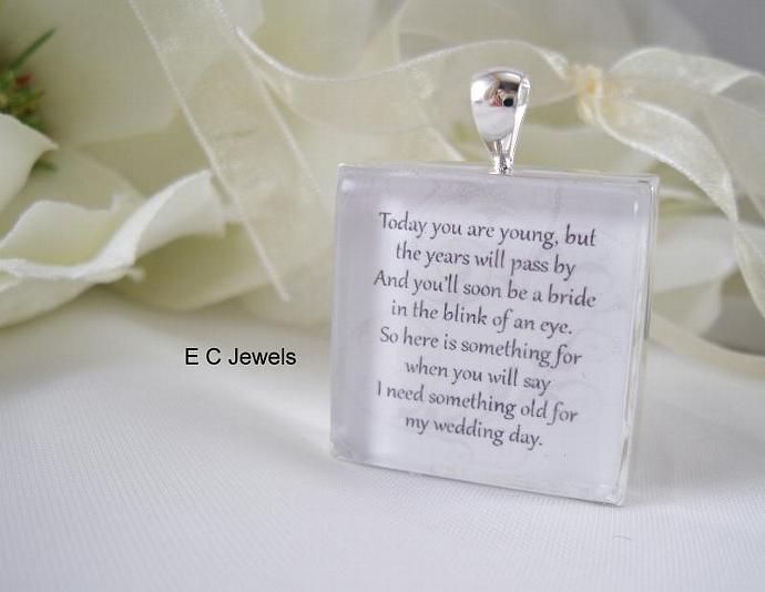 Personalized Flowergirl Keepsake Bouquet Charm- Double Sided