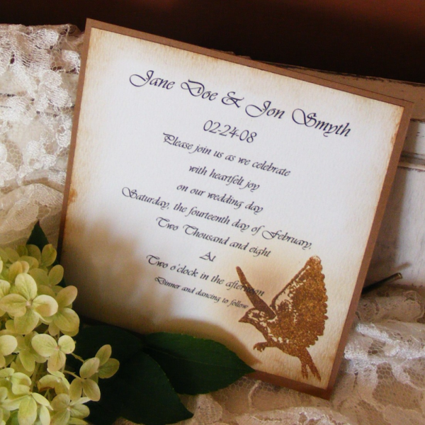 Birds in Flight- Flat Invitations