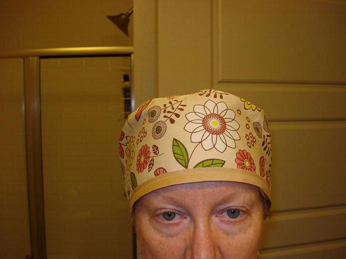 Spring Floral Scrub / Chef / Cancer hat
