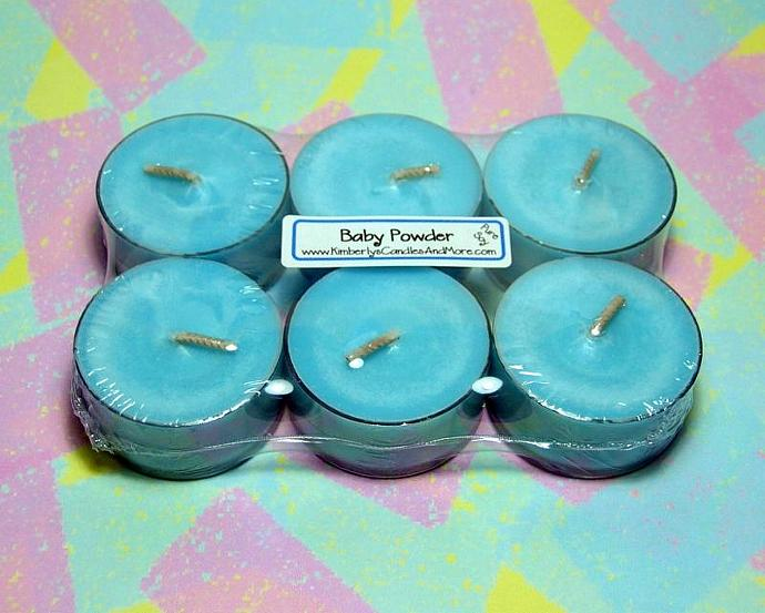 Baby Powder PURE SOY Tea Lights (Set of 6)