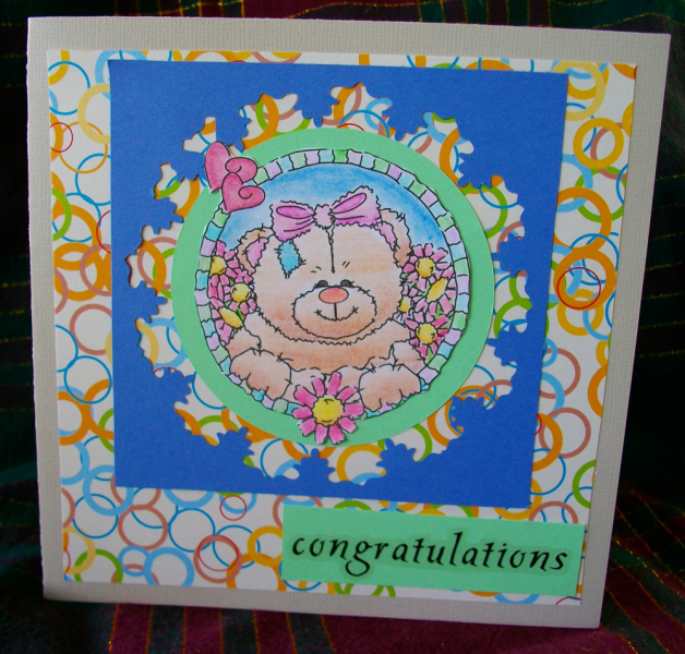 Congratulations bear card