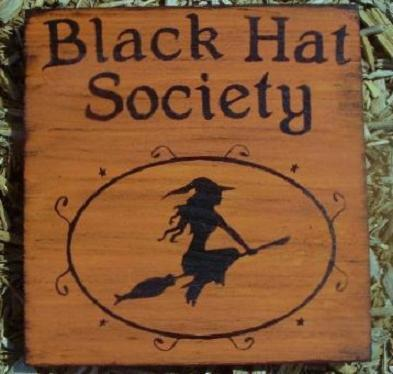 witchcraft Primitive witch witches sign Black Hat Society Halloween decorations