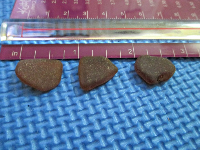 Brown Genuine Sea Glass from Hawaii - 6 medium pieces