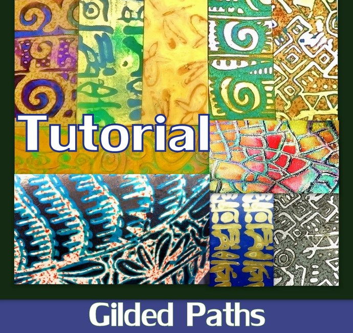 Gilded Paths Surface Techniques - Polymer Clay PDF Tutorial - Digital Download