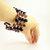 Gemstone Memory Wire Bracelet, Cuff Bracelet, Amethyst Beaded Bracelet, Plus