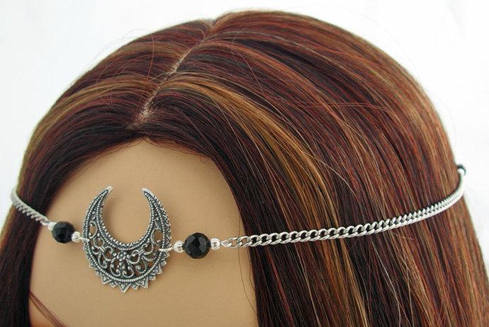 CUSTOM color Moon Goddess Lunar Priestess CIRCLET diadem Item 3146 Luna crown