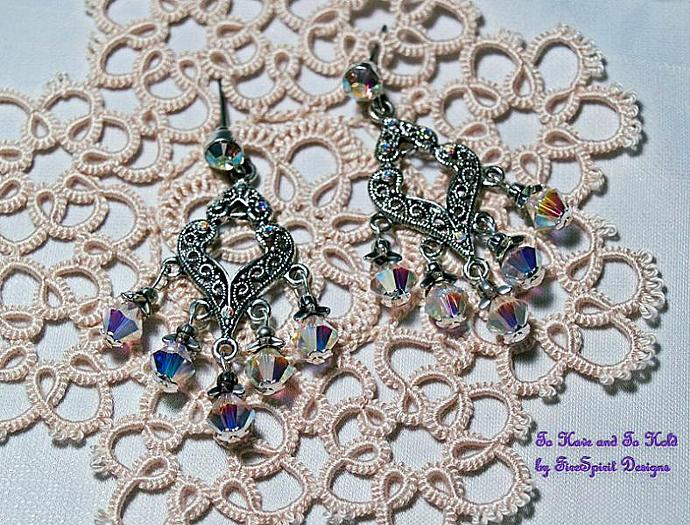 To Have and To Hold- Swarovski crystal earrings
