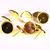 10 pc (5 pairs) 14mm 12mm earstud gold tone findings - nickel free lead free