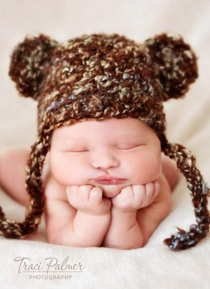 c652e142d0a Crochet Newborn Bear Hat