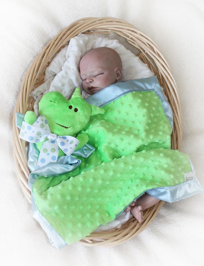 Dragion Security blanket, Lovey Blanket, Satin, Baby Blanket, Stuffed Animal,