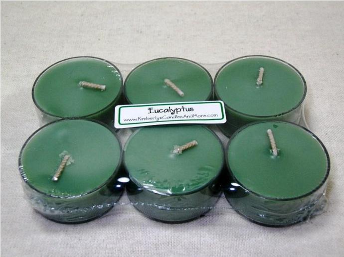 Eucalyptus PURE SOY Tea Lights (Set of 6)