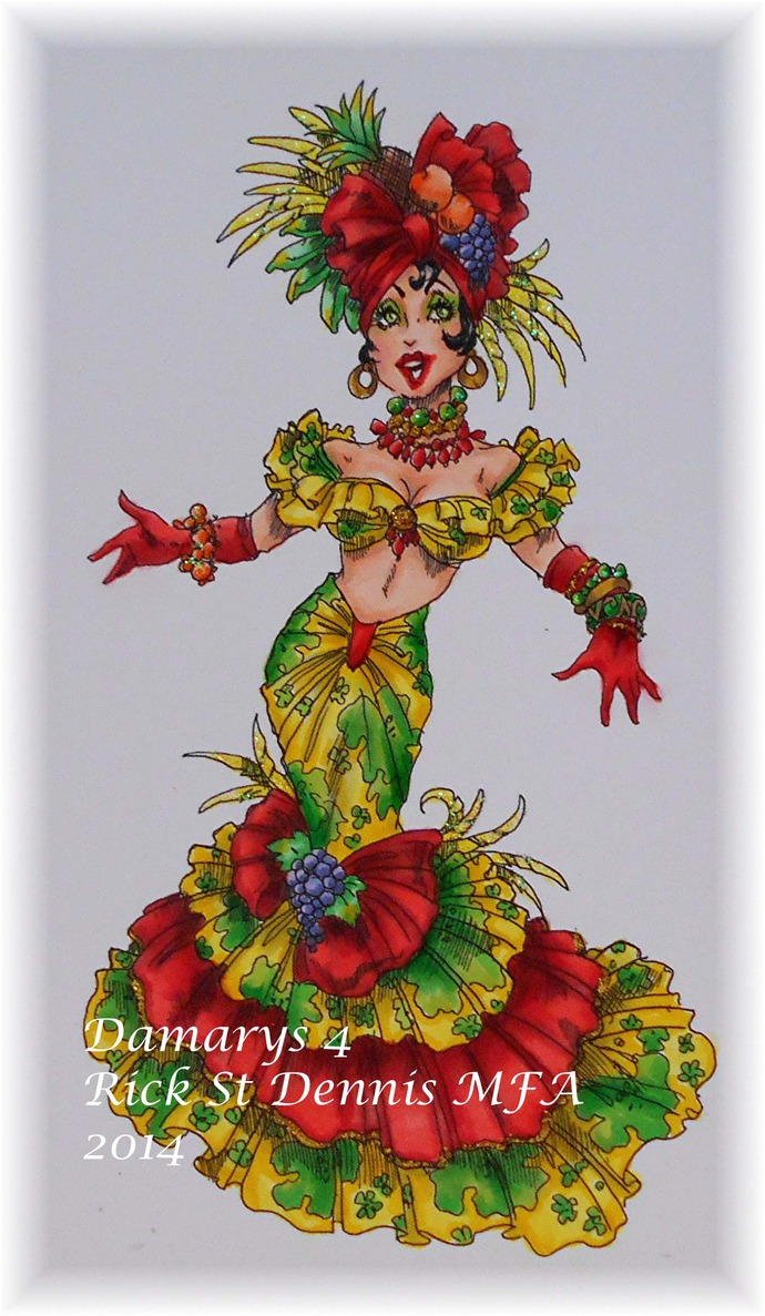 Carmen the samba girl digi stamp