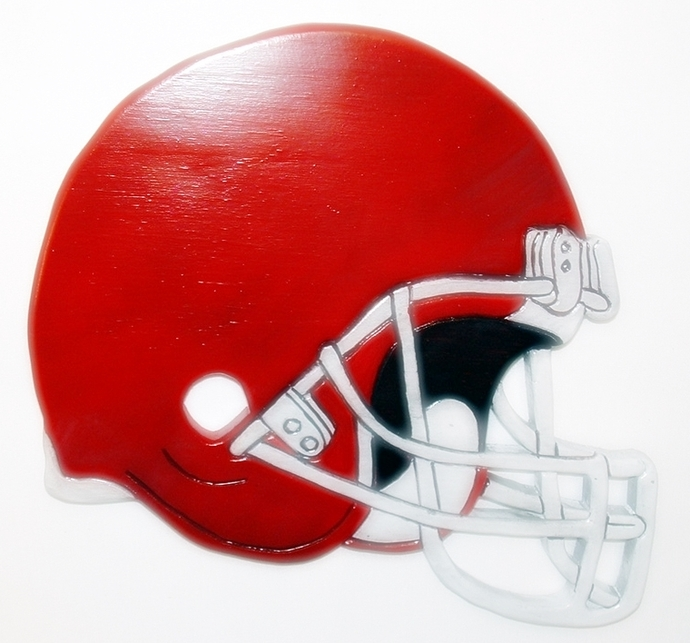 Man Cave Decor, Helmet Football, Wood sculpture