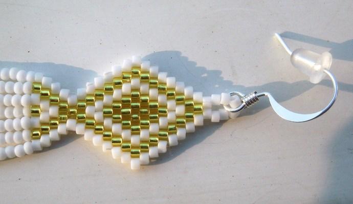 Yellow & White Dangle Earrings