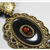 Vintage 1928 jewelry Black and amber costume necklace with filigree