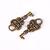 Petite key charm pendant antique brass antique bronze - 18mm x 8mm - 5 pieces