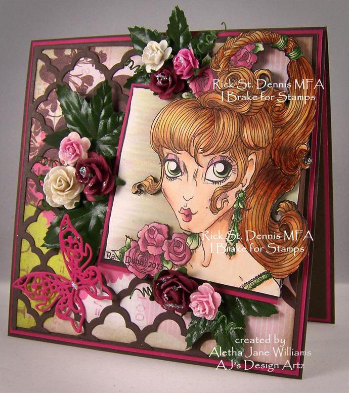 Summer Goddess Ete Handmade one-of-a-kind card