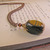 Tigers eye and copper necklace with Vintage beads