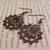 Steampunk Clockwork Gear earrings in copper & nickle silver
