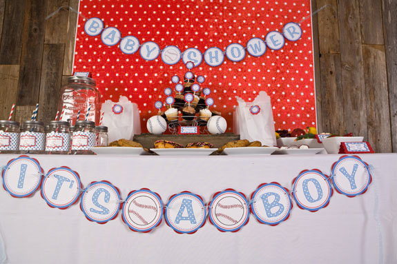 Great Baseball Baby Shower Banner   ITS A BOY Party Sign   Baseball Baby Shower