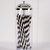 50 Paper Straws - Made in the USA - Black and White Striped - Black and White