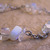 Crystal teardrop and moonstone chip necklace