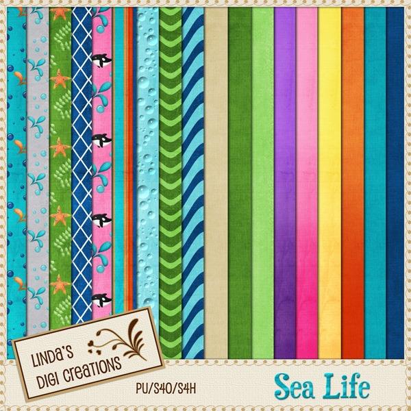 Sea Life (Digital Scrapbooking Kit)