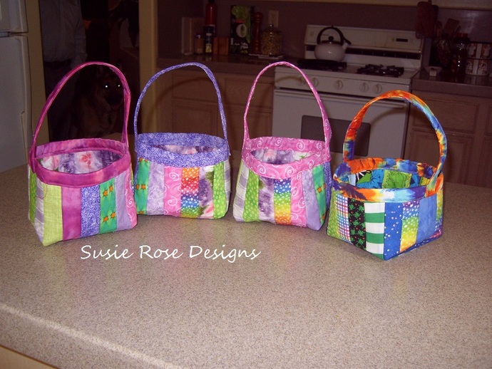 Custom Ordered Easter or Themed Baskets -  Fabric Baskets - Custom Order -