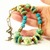 Eclectic Turquoise and Lime Green Beaded Necklace, Polymer Clay Jewelry