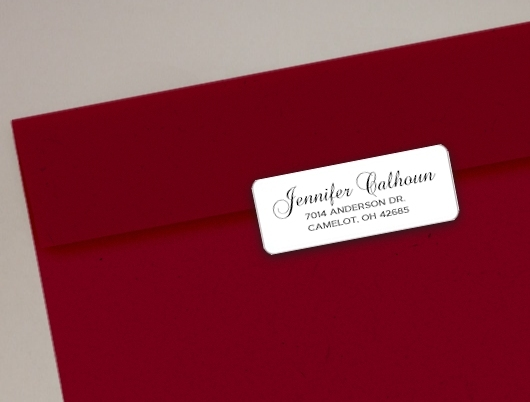 Return Address Labels - 30 styles available - Personalized Stickers - Rectangle