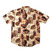 Tan and Brown Monstera Aloha Shirt - Sizes  M, L