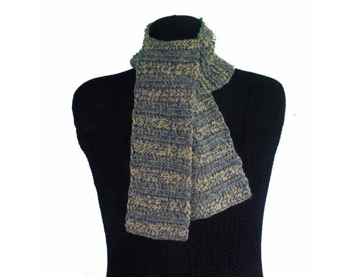 Men's Wool Scarf - Blue