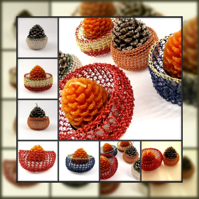 Wire crochet multi-use baskets - pick your color and size!