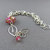 Sterling Silver Shaggy Loops Bracelet - Pink Lamp Work Bead Chainmaille Bracelet