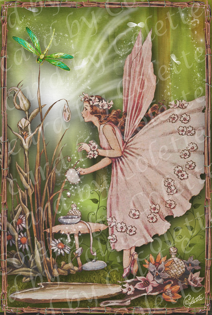 Fairy in Her Boudoir Greeting Card5289