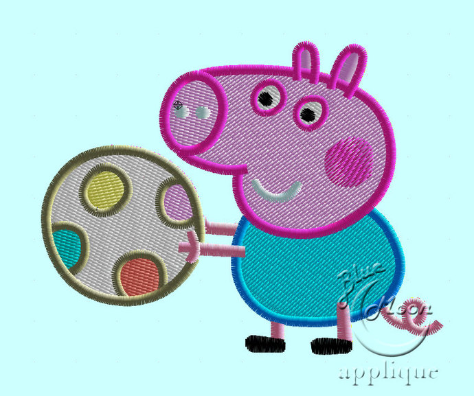 peppa pig Design for Embroidery Machines. Size 4x4.  Instant Download