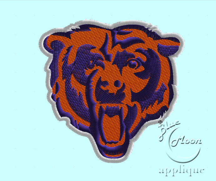 College Team Bears Design for Embroidery Machines Size 4x4.  Instant Download