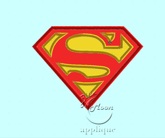 Superman Applique Design Embroidery Machine. Size 4x4.  Instant Download